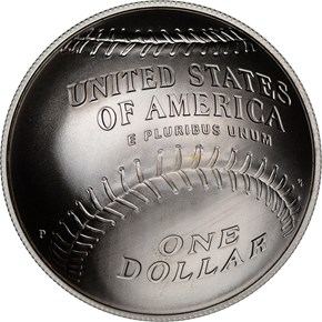 2014 P BASEBALL HALL OF FAME S$1 MS reverse