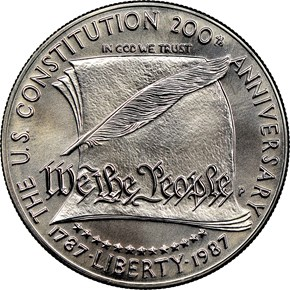 1987 P CONSTITUTION BICENTENNI obverse