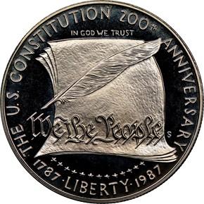 1987 S CONSTITUTION BICENTENNI obverse