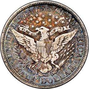 1906 O 50C MS reverse