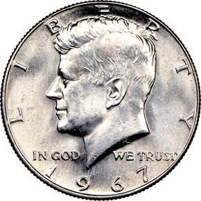 1967 50C MS obverse