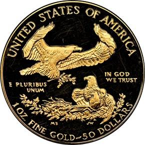 1986 W EAGLE G$50 PF reverse