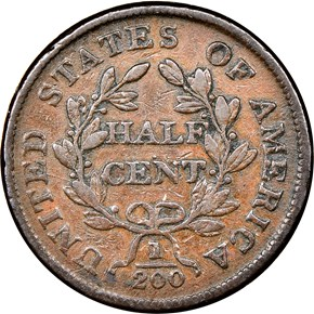 1804 1/2C MS reverse