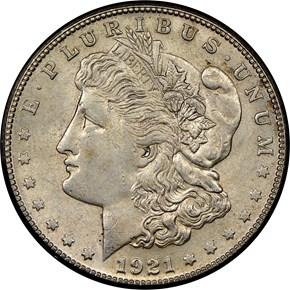1921 S $1 MS obverse