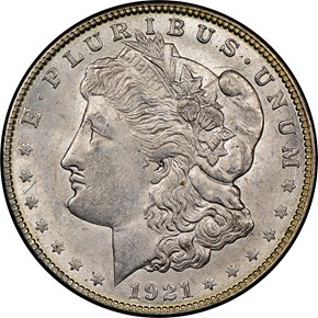 1921 MORGAN $1 MS obverse