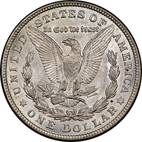 1921 MORGAN $1 MS reverse
