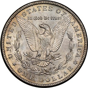 1899 S $1 MS reverse