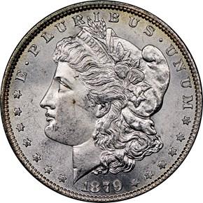 1879 $1 MS obverse
