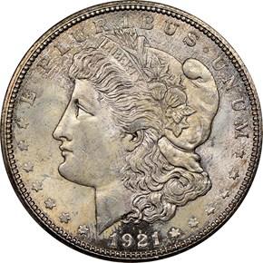 1921 D $1 MS obverse