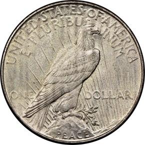 1935 $1 MS reverse