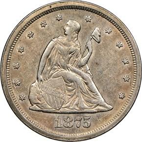 1875 S 20C MS obverse