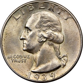 1939 D 25C MS obverse