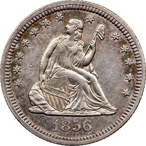 1856 25C MS obverse