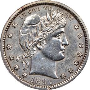 1897 25C PF obverse