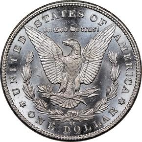 1883 CC $1 MS reverse