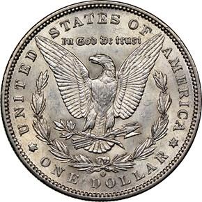 1893 O $1 MS reverse