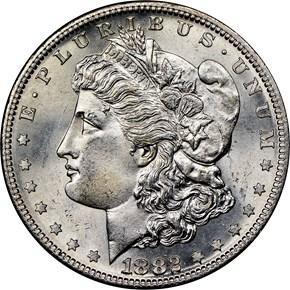 1882 S $1 MS obverse