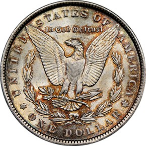 1887 $1 MS reverse