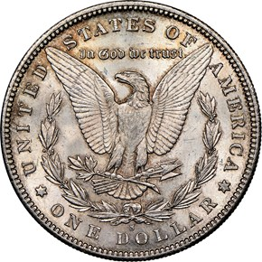 1891 S $1 MS reverse