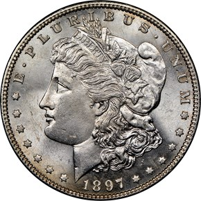 1897 $1 MS obverse