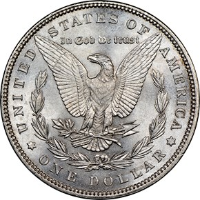 1897 $1 MS reverse