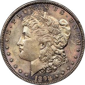 1898 $1 MS obverse