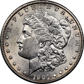 1901 O $1 MS obverse