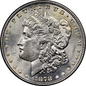 1878 7TF REV OF 78 $1 MS obverse