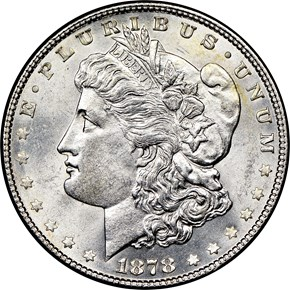 1878 7TF REV OF 78 $1 MS obverse