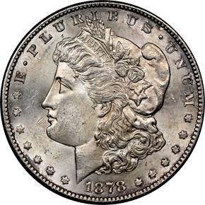 1878 S $1 MS obverse