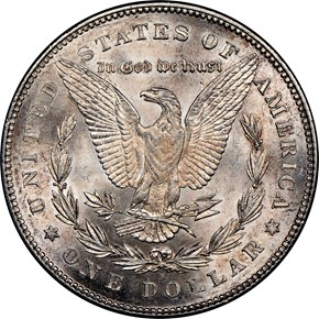 1878 S $1 MS reverse