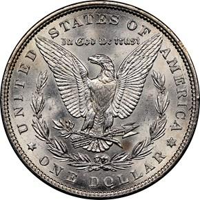 1883 $1 MS reverse