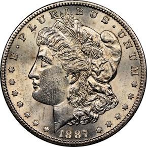 1887 S $1 MS obverse