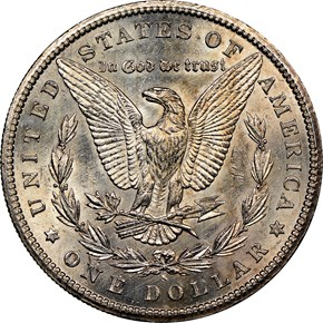 1887 S $1 MS reverse