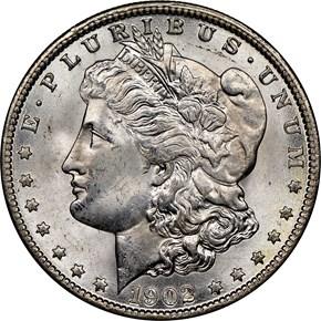 1902 O $1 MS obverse