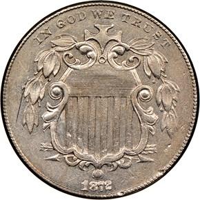 1872 5C MS obverse