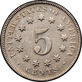 1872 5C MS reverse