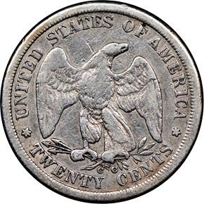 1875 CC 20C MS reverse