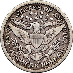 1895 O 25C MS reverse