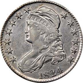 1824 50C MS obverse