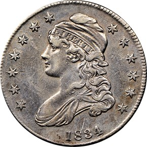 1834 50C MS obverse