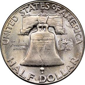 1948 D 50C MS reverse