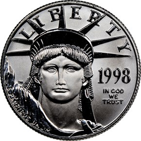 1998 EAGLE P$50 MS obverse