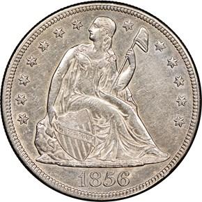 1856 $1 MS obverse