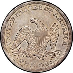 1856 $1 MS reverse