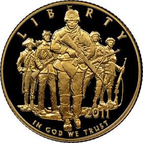 2011 W UNITED STATES ARMY $5 PF obverse