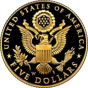 2008 W BALD EAGLE $5 PF reverse
