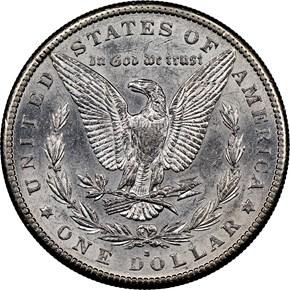 1883 S $1 MS reverse