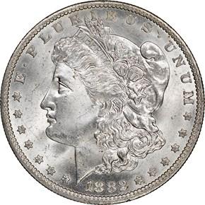 1882 O $1 MS obverse