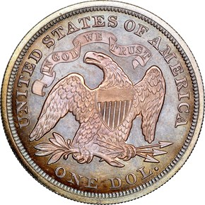 1871 $1 PF reverse